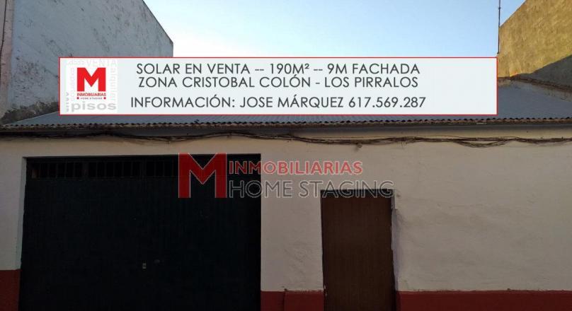 Solar urbano en zona Avda Los Pirralos. (Ref: MC-141)